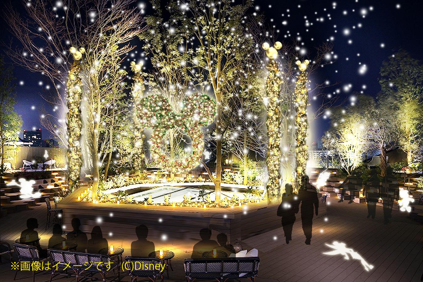 【東急プラザ 表参道原宿】おもはらの森クリスマスパース(※画像はイメージです_(c)Disney)のコピー