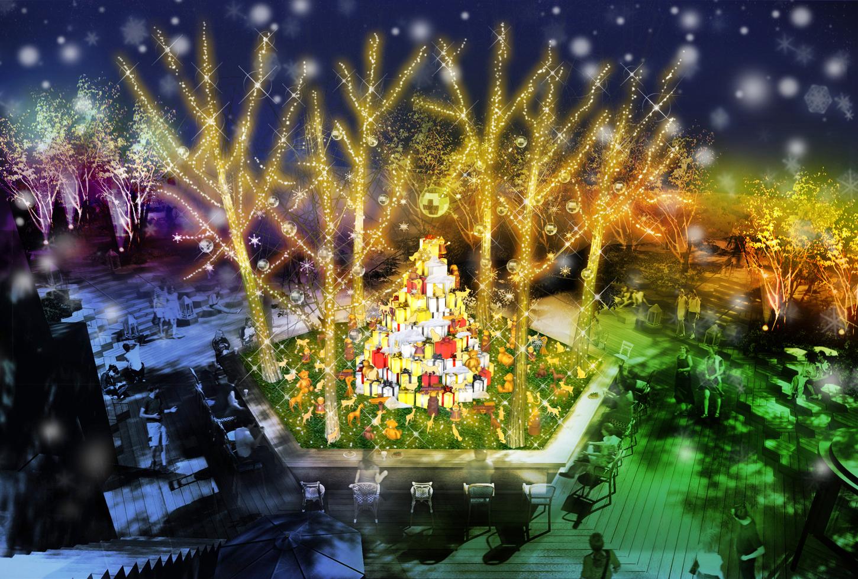 OMOHARA WHITE CHRISTMAS_イルミネーションイメージ【Gift~森からの贈り物~】