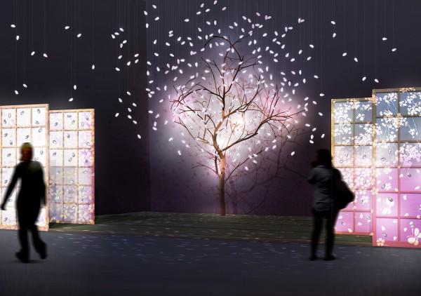 江戸切子の花吹雪(イメージ)