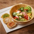 【料理】スタッフドバケットとキヌアのサラダランチセット(¥1200)1