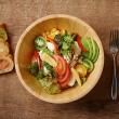 【料理】スタッフドバケットとキヌアのサラダランチセット(¥1200)2